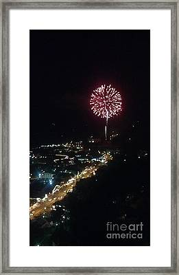 Framed Print featuring the photograph Mountain Fireworks by Janice Spivey