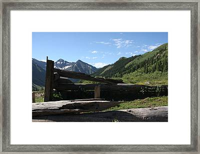 Mountain Ghost Town Framed Print