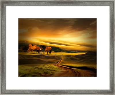 Mountain Horses Framed Print