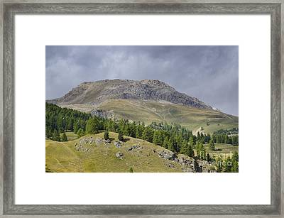 Mountain In St Moritz Framed Print by Mats Silvan