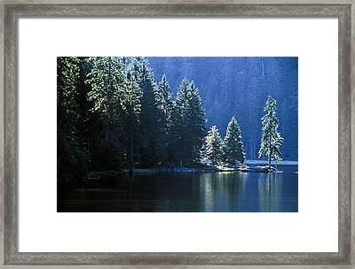 Mountain Lake In Arbersee, Germany Framed Print by John Doornkamp