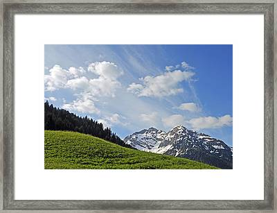 Mountain Landscape In The Alps Framed Print by Matthias Hauser