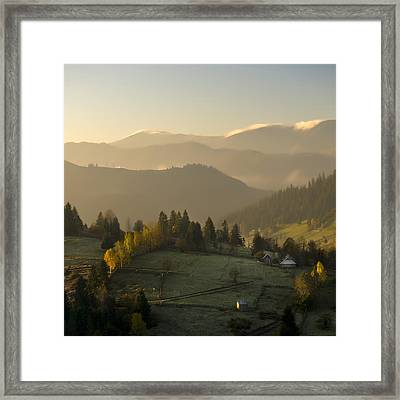 Mountain Landscape Framed Print by Ovidiu Bastea