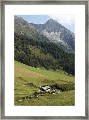 Framed Print featuring the photograph Mountain Landscape by Raffaella Lunelli