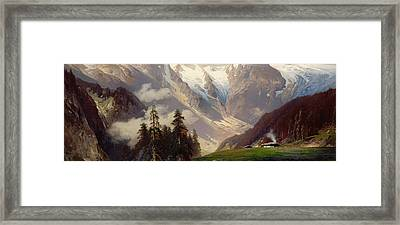 Mountain Landscape With The Grossglockner Framed Print by Nicolai Astudin