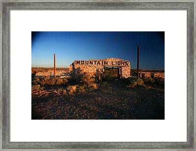 Framed Print featuring the photograph Mountain Lions At Two Guns by Lon Casler Bixby
