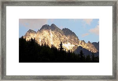 Mountain Framed Print by Meeli Sonn
