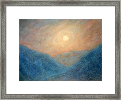 Mountain Mist Framed Print by David Wiles