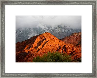 Mountain Mist Framed Print by Marta Alfred