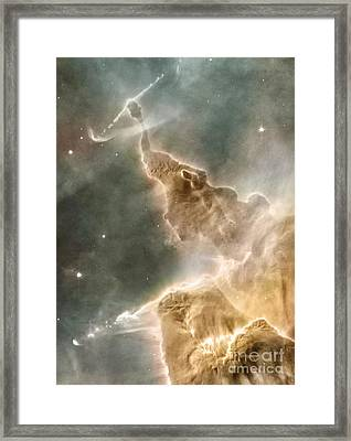 Mountain Of Cold Hydrogen Framed Print by Nasa