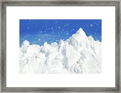 Mountain Of Snow Framed Print by Sandra Cunningham