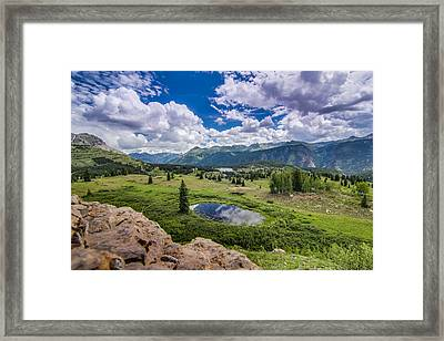 Mountain Pass Framed Print by Chris Multop