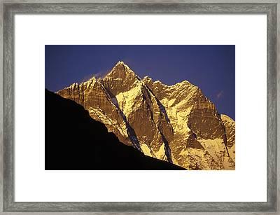 Mountain Peaks Framed Print by Sean White