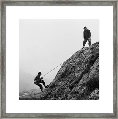 Mountain Police Framed Print by John Drysdale
