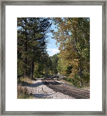 Mountain Railroad Framed Print by George Hawkins