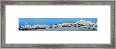 Mountain Range Along The Dempster Highway Framed Print