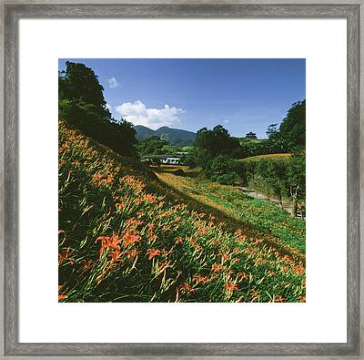 Mountain Range Framed Print by Love Photography