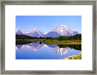 Mountain Reflections Framed Print by Carolyn Ardolino