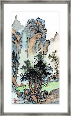 Mountain Retreat Framed Print by Yolanda Koh