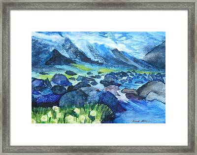 Mountain River Framed Print by Anna  Henderson