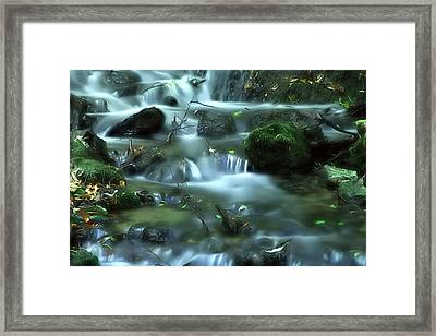 Framed Print featuring the photograph Mountain River by Odon Czintos