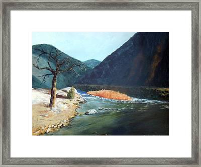 Mountain River Framed Print by Stephen  Hanson