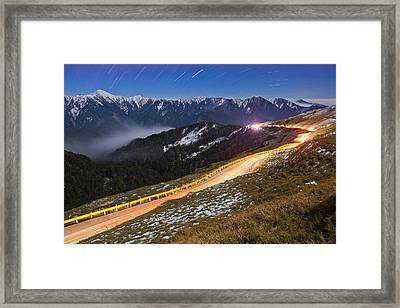Mountain Road Framed Print by Higrace Photo