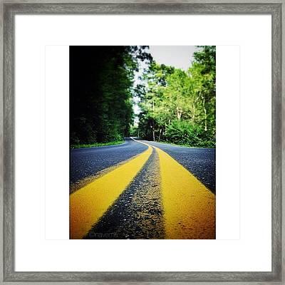 Mountain Road Framed Print by Natasha Marco