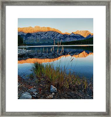 Mountain Shadow Framed Print
