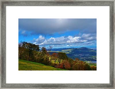 mountain sky Quebec Framed Print by Josee Dube