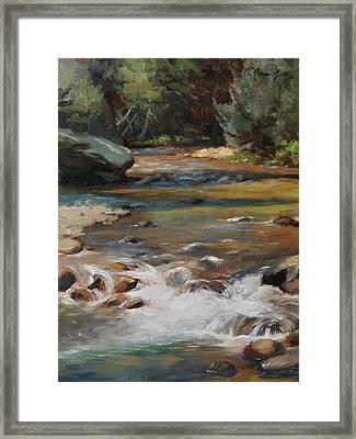 Mountain Stream Framed Print by Anna Rose Bain