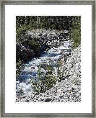 Mountain Stream Framed Print by George Hawkins