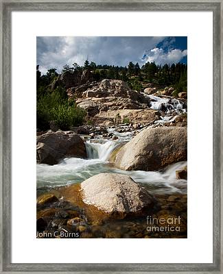 Framed Print featuring the photograph Mountain Stream by John Burns