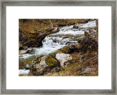 Framed Print featuring the photograph Mountain Stream by Les Palenik