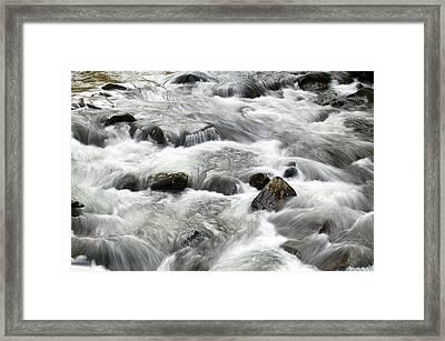 Mountain Stream Smokies Framed Print by Rich Franco