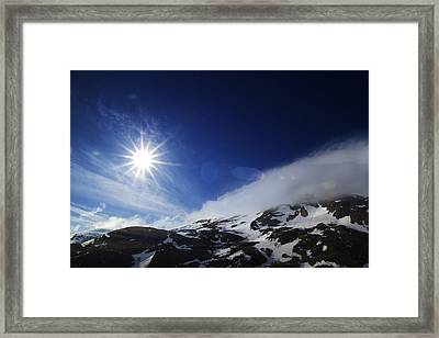 Mountain Sun Framed Print