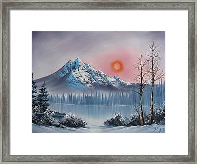 Mountain Sunset Framed Print by Kevin Hill