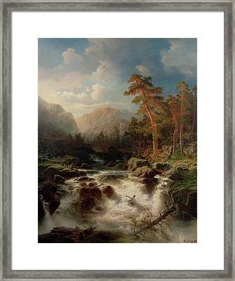 Mountain Torrent Smaland Framed Print by Marcus Larson