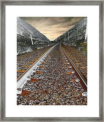 Mountain Tracks Framed Print