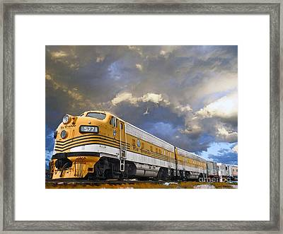 Mountain Train Framed Print by Jerry L Barrett