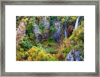 Mountain Valley In Autumn Framed Print by Artur Bogacki