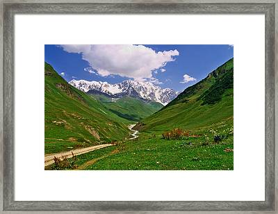 Mountain Valley Framed Print