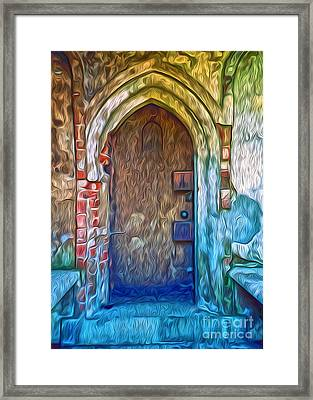 Framed Print featuring the painting Mountain View Cemetery Tomb - Number 2 by Gregory Dyer