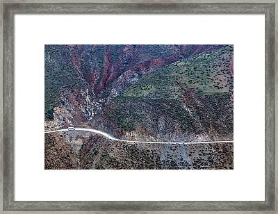 Mountain View From Tizi-n-test Pass (e 2092 Meters), Tizi-n-test Pass Road, Morocco Framed Print by Walter Bibikow