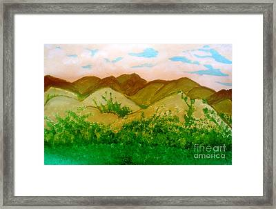 Mountain View Of Ecuador Framed Print