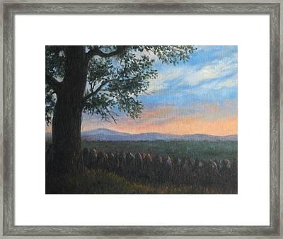 Mountain View Sunset Framed Print by Oksana Zotkina