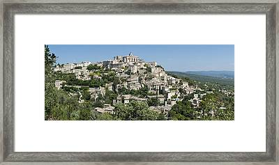 Mountain Village In South Of France Framed Print