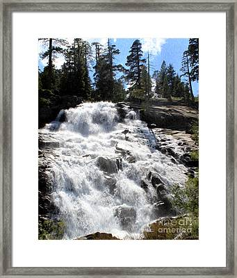 Framed Print featuring the photograph Mountain Waterfall  by Anne Raczkowski