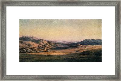 'mountainous Countryside' Painting By Edmond Barbazzona Framed Print by Photos.com