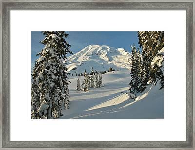 Mountainous Landscape In Mt. Rainer Framed Print by Raymond Gehman